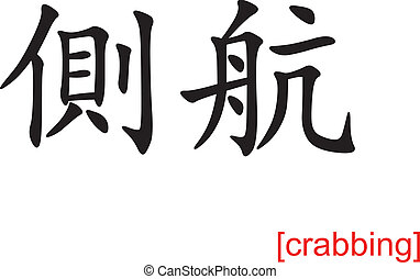 Chinese Sign for crabbing
