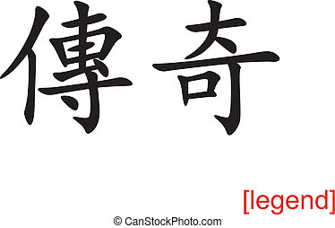 Chinese Sign for legend