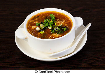 Chinese soup with seafood
