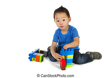 Chinese special needs child - little Chinese boy with one...