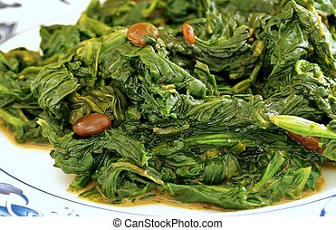 Chinese Spinach and Fermented Tofu