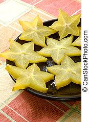 carambola - chinese star fruit, also called carambola