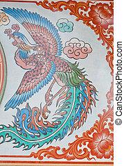 Chinese style art wall