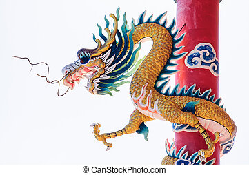 Chinese style Dragon Statue. - Image of Chinese style Dragon...