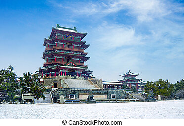 Chinese style of ancient buildings - The ancient Chinese...