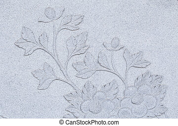 Chinese Style Stone carving for background.