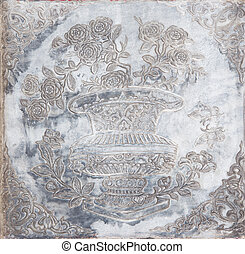 Chinese style stone carving of flower