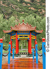 Chinese summerhouse in park