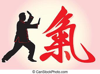 A Tai Chi Master in silhouette.