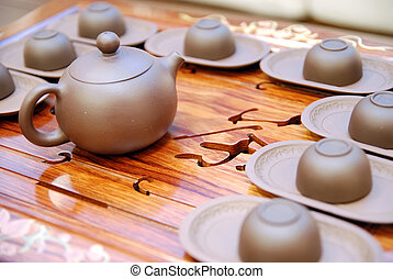 Chinese tea cup and bowl