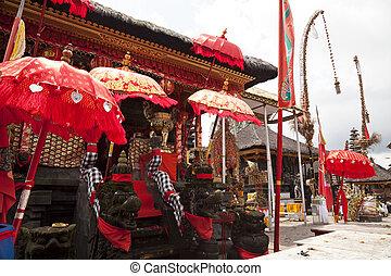 Chinese Temple at Pura Ulun Danu Batur, Bali, Indonesia -...