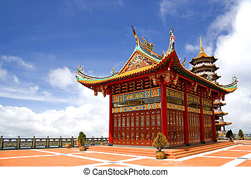 Chinese Temple - Image of a Chinese temple in Malaysia.