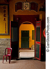 chinese temple in ho chi minh saigon vietnam
