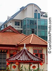 Chinese Temple Joo Chiat - The new house and chinese temple