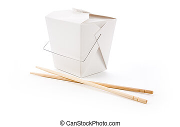 To-Go Box - chinese To-Go Box with white background