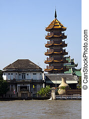 Chinese tower, Chao Phraya River, B