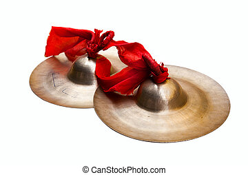 Chinese tradition percussion instrument - China small cymbals