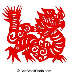 Art of red dragon