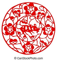Chinese Zodiac of mouse - Chinese traditional...