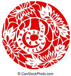 Chinese Zodiac of Snake Year - Chinese traditional...