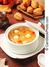 Sweet white fungus and lotus seeds - Chinese traditional ...