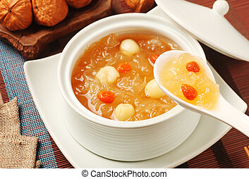 Sweet white fungus and lotus seeds - Chinese traditional...