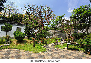 Chinese traditional garden in Hong Kong, China