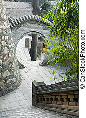 Chinese traditional moon gates.