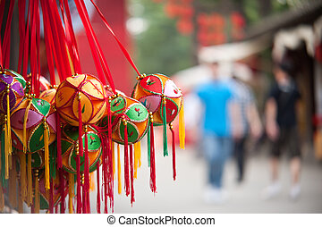 Chinese traditional sachet, New Year's mascot, Clifford