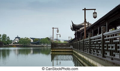 Chinese traditional style bridge - Long Corridor Bridge,...