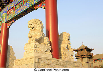 Chinese traditional style stone carving works
