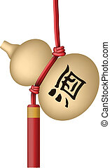 chinese traditional wine bottle wit - Layered vector...