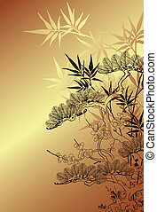 chinese tree background