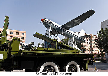 Chinese unmanned aerial vehicle (UAV) mounted on a military truck.