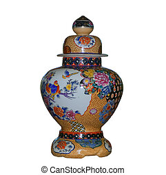 Chinese vase on a white background