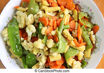 Chinese vegetable dish - Chinese asian stir fried assorted ...