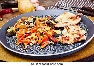 Chinese Vegetable Mix with Chicken Grilled Fillet