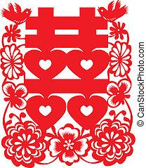 Chinese wedding paper cut pattern