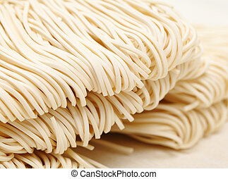 Chinese white noodle close up