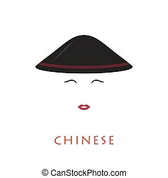 Chinese woman with a hat.