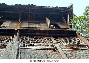 Chinese Wooden Houses On Stilts