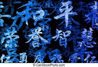 Chinese Writing Calligraphy Background