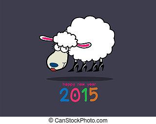 Chinese year of Sheep Lamb - Illust