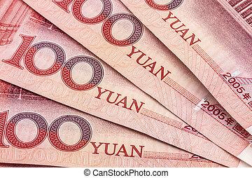 Chinese Yuan - Chinese currency - hundren yuan background