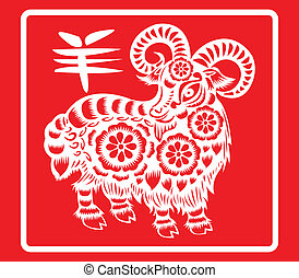 Goat. - Chinese zodiac, Goat.