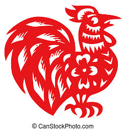 Chinese zodiac of cock - Chinese traditional...