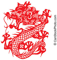 Chinese traditional paper-cut, chinese zodiac of dragon