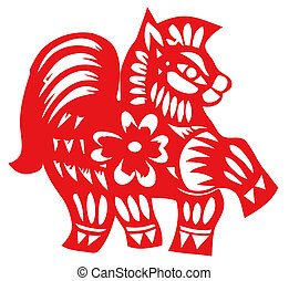 Chinese zodiac of horse - Chinese traditional...