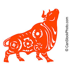 Chinese Zodiac of ox - Traditional Chinese culture,...