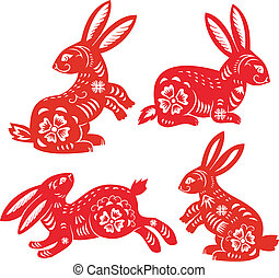 Chinese Zodiac of Rabbit Year. Simbol of 2011 year